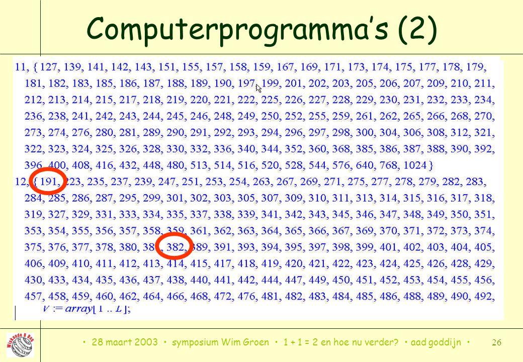 Computerprogramma's (2)