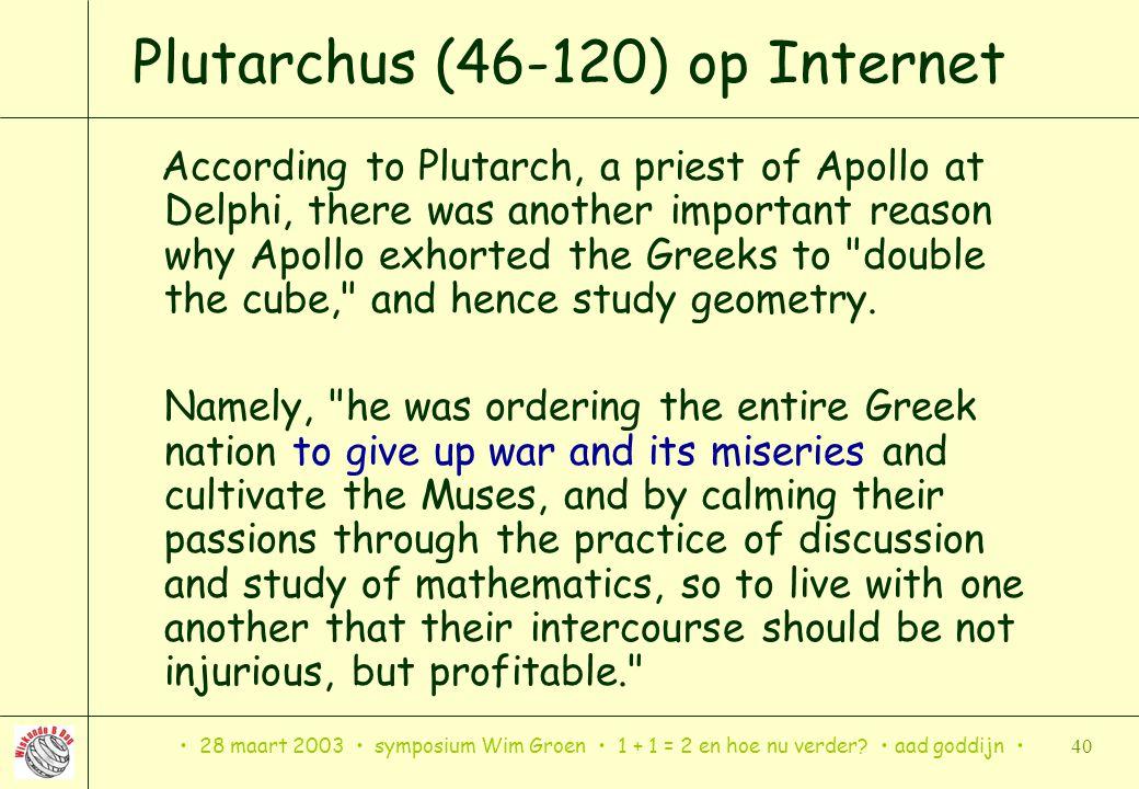 Plutarchus (46-120) op Internet