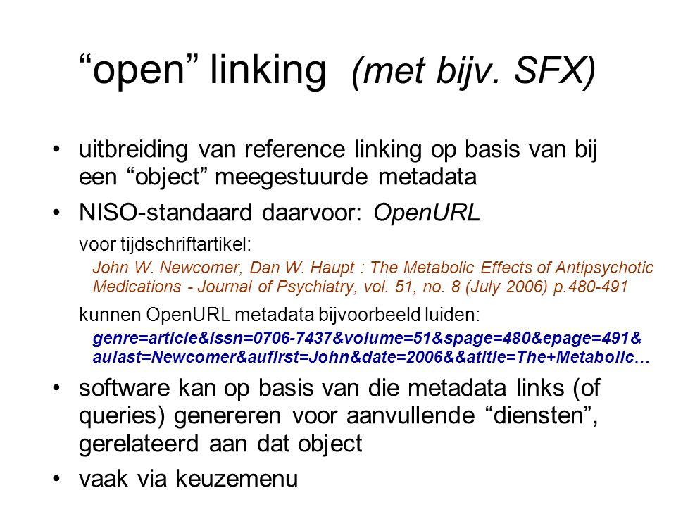 open linking (met bijv. SFX)