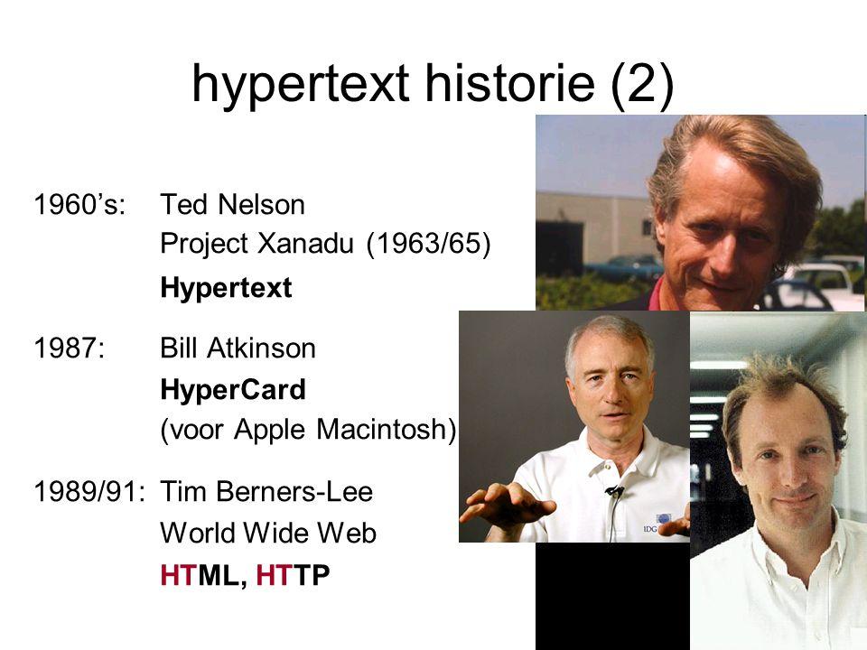 hypertext historie (2)