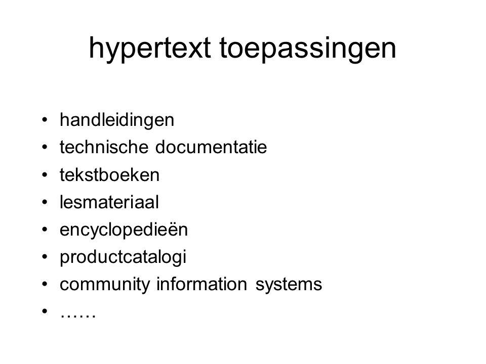hypertext toepassingen