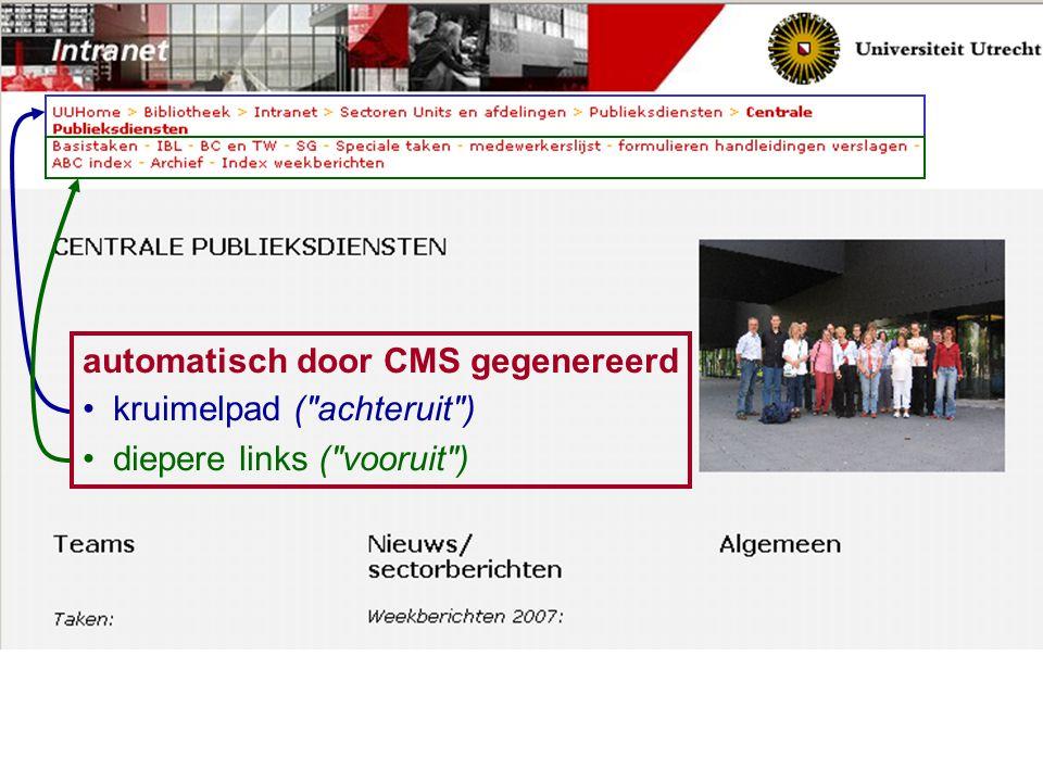 automatisch door CMS gegenereerd