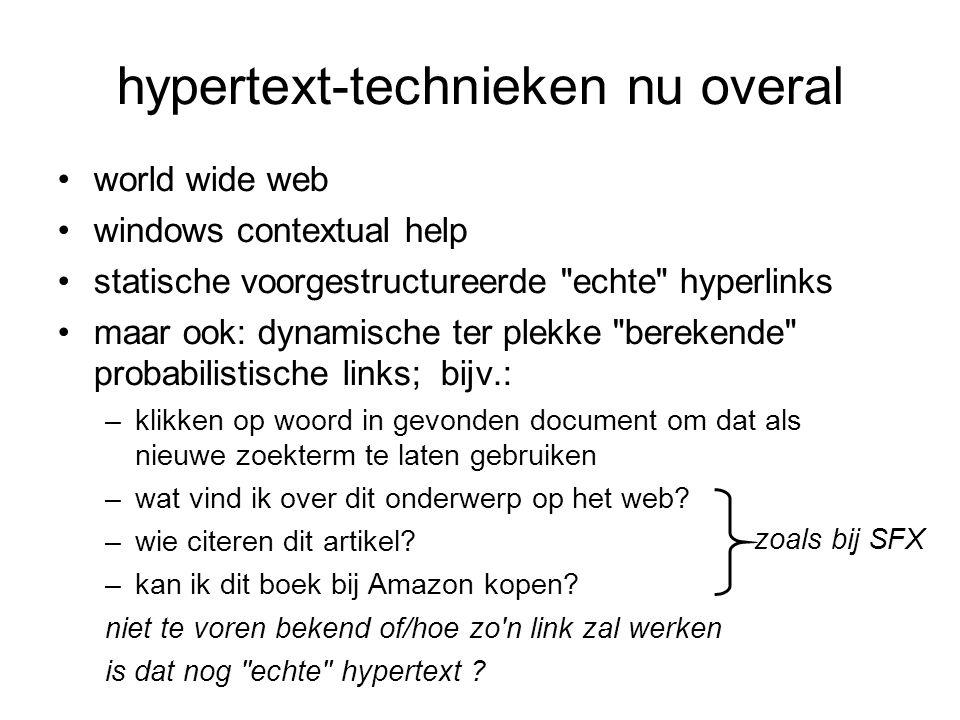 hypertext-technieken nu overal
