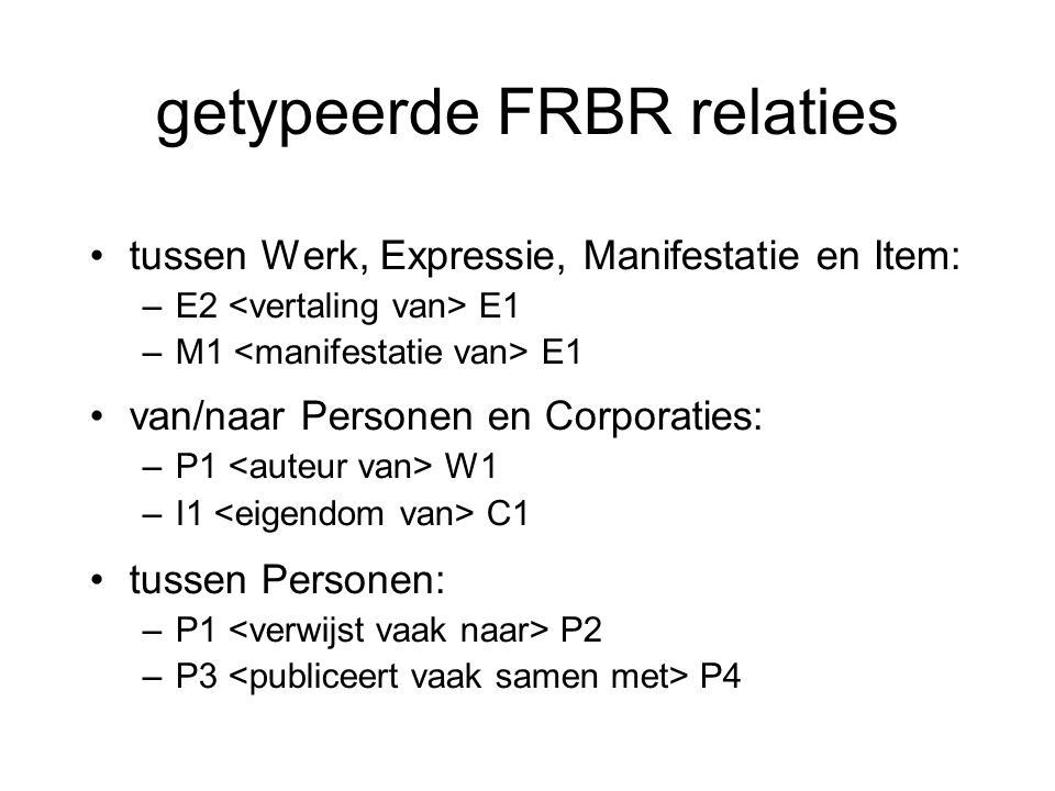 getypeerde FRBR relaties