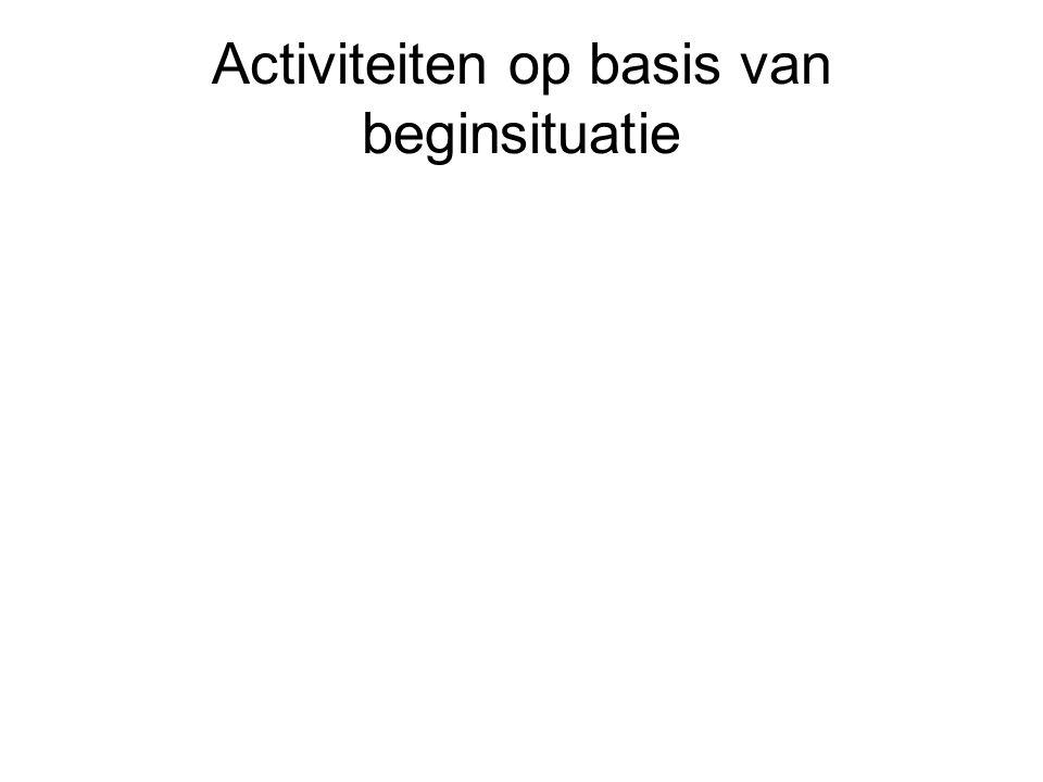 Activiteiten op basis van beginsituatie