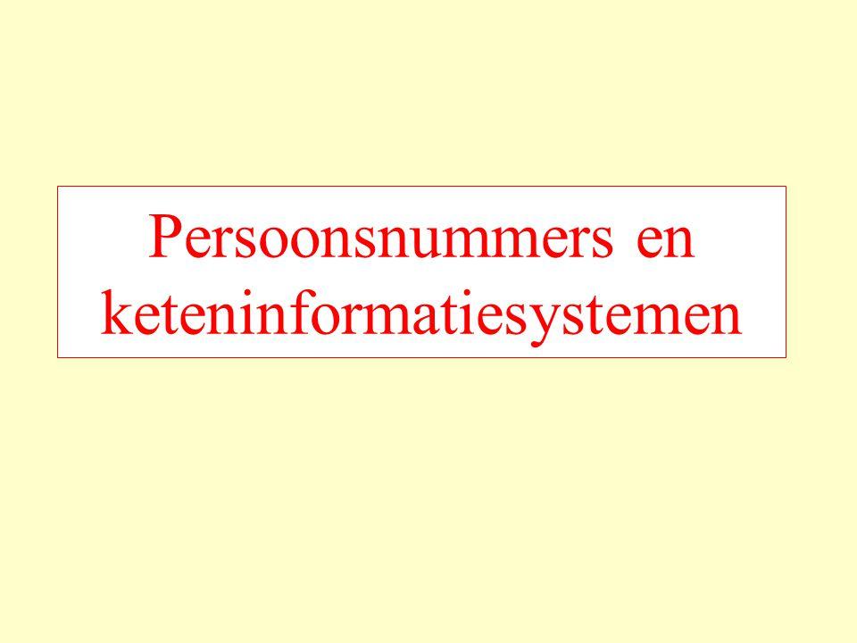 Persoonsnummers en keteninformatiesystemen