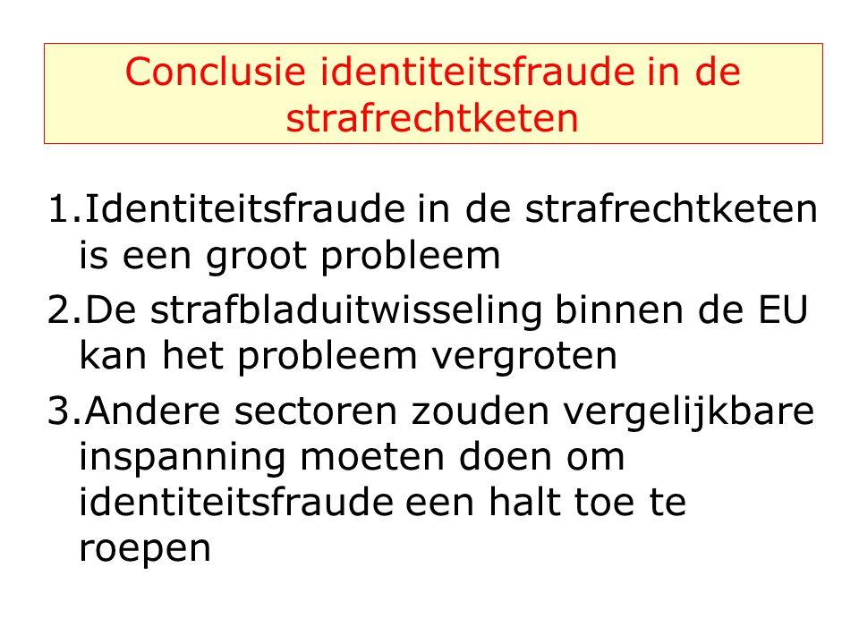Conclusie identiteitsfraude in de strafrechtketen