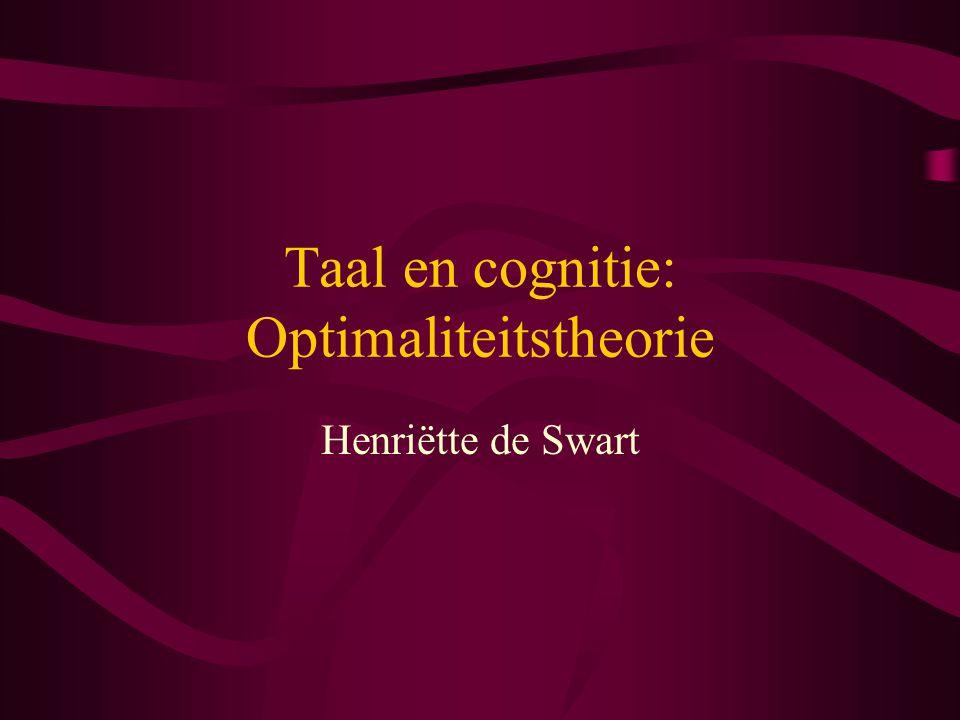 Taal en cognitie: Optimaliteitstheorie