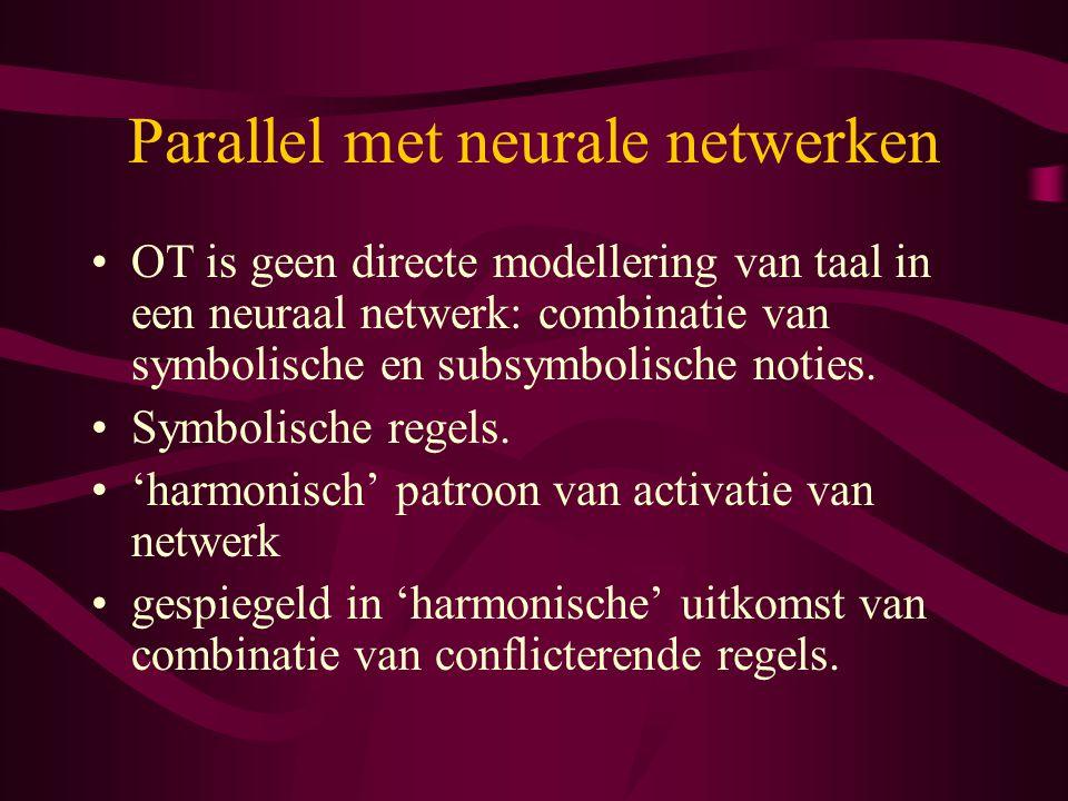 Parallel met neurale netwerken