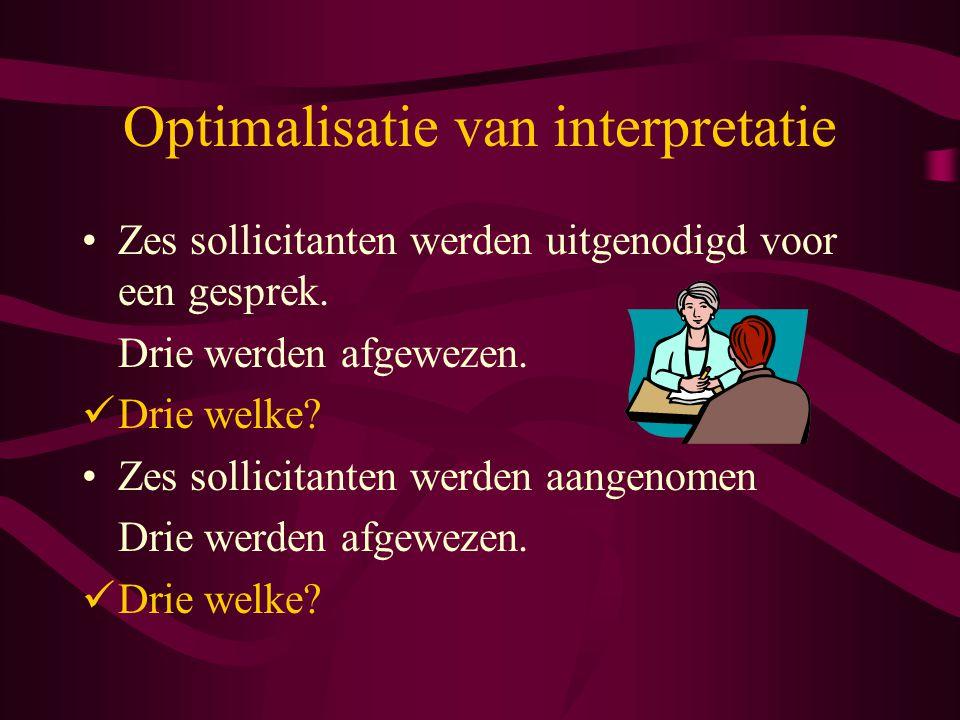 Optimalisatie van interpretatie