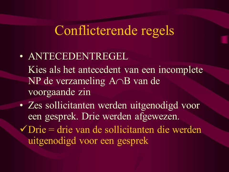 Conflicterende regels