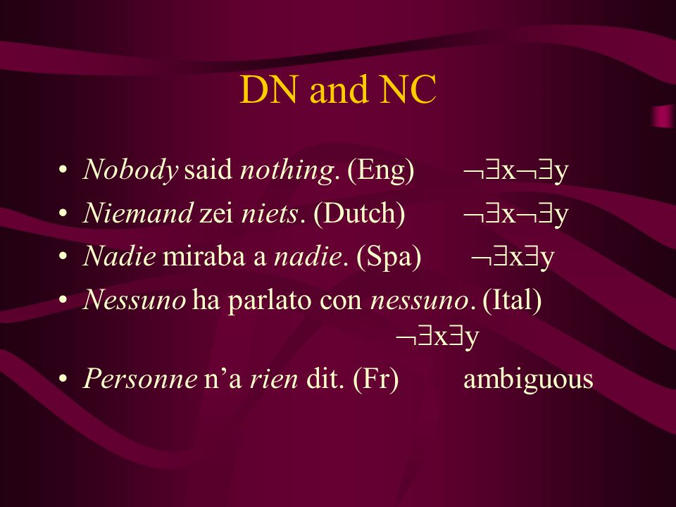 DN and NC Nobody said nothing. (Eng) xy