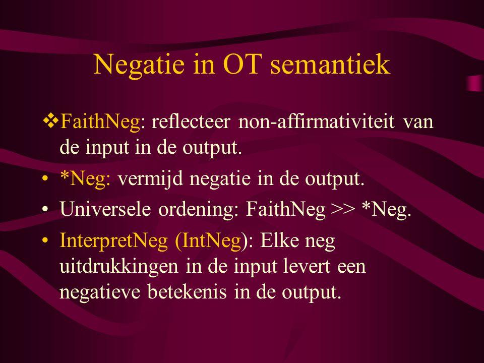 Negatie in OT semantiek