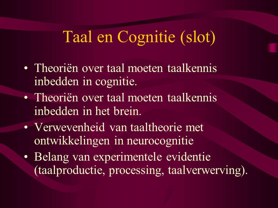 Taal en Cognitie (slot)