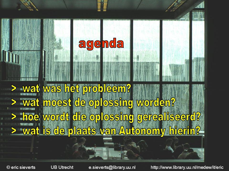 agenda > wat was het probleem > wat moest de oplossing worden