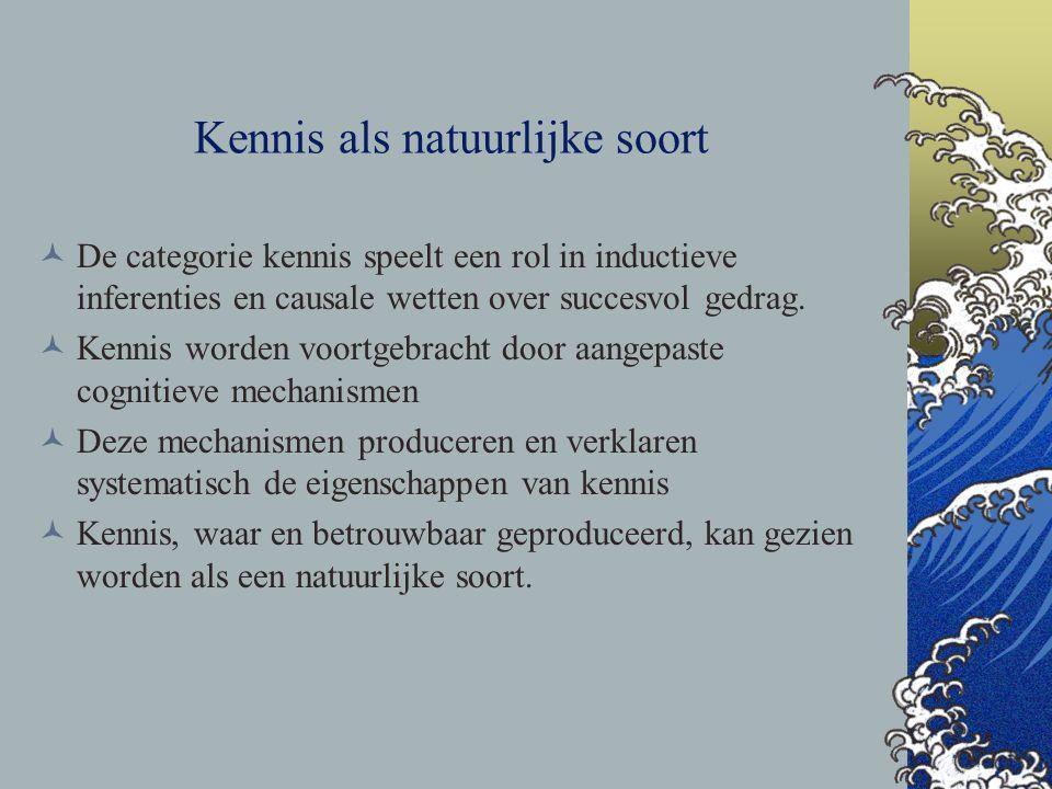 Kennis als natuurlijke soort