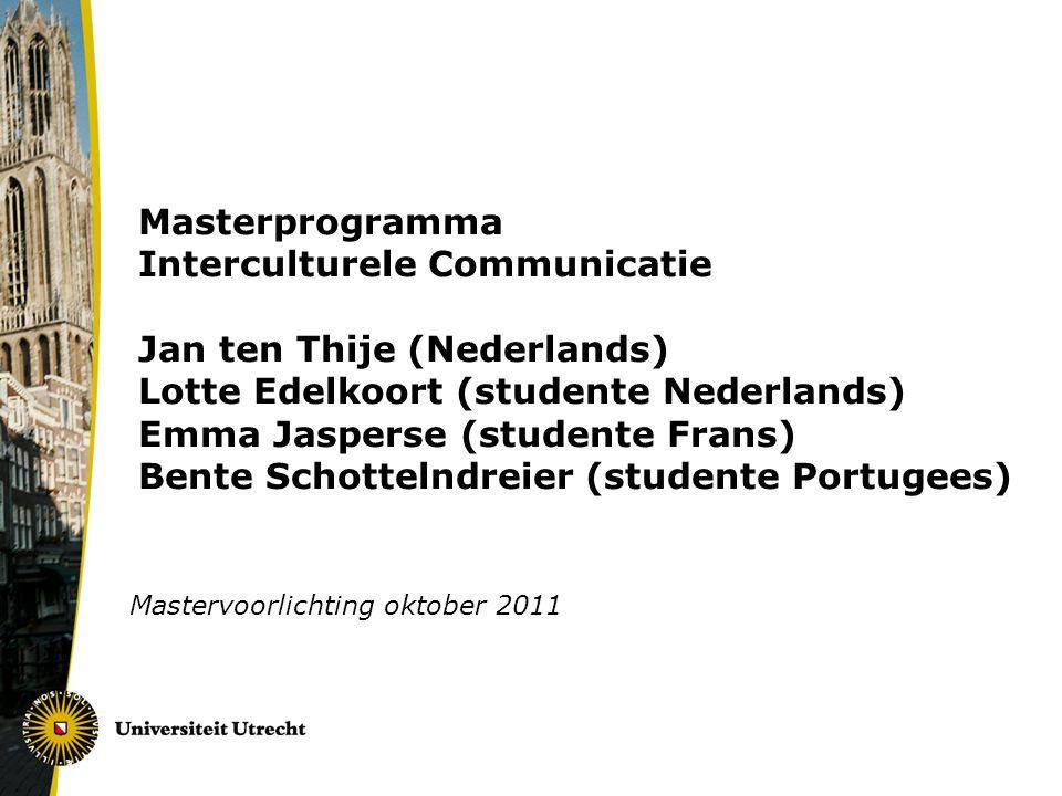 Mastervoorlichting oktober 2011