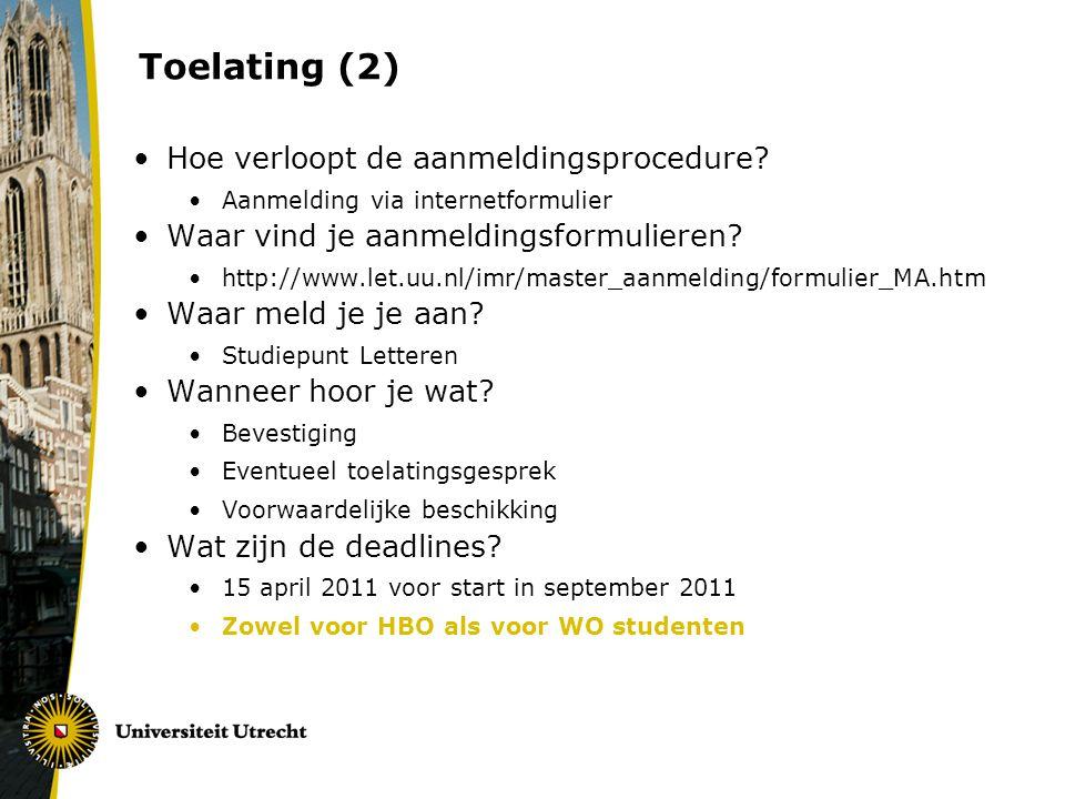 Toelating (2) Hoe verloopt de aanmeldingsprocedure