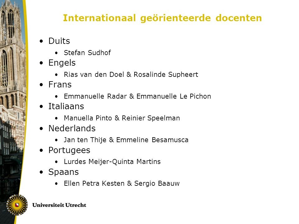 Internationaal geörienteerde docenten