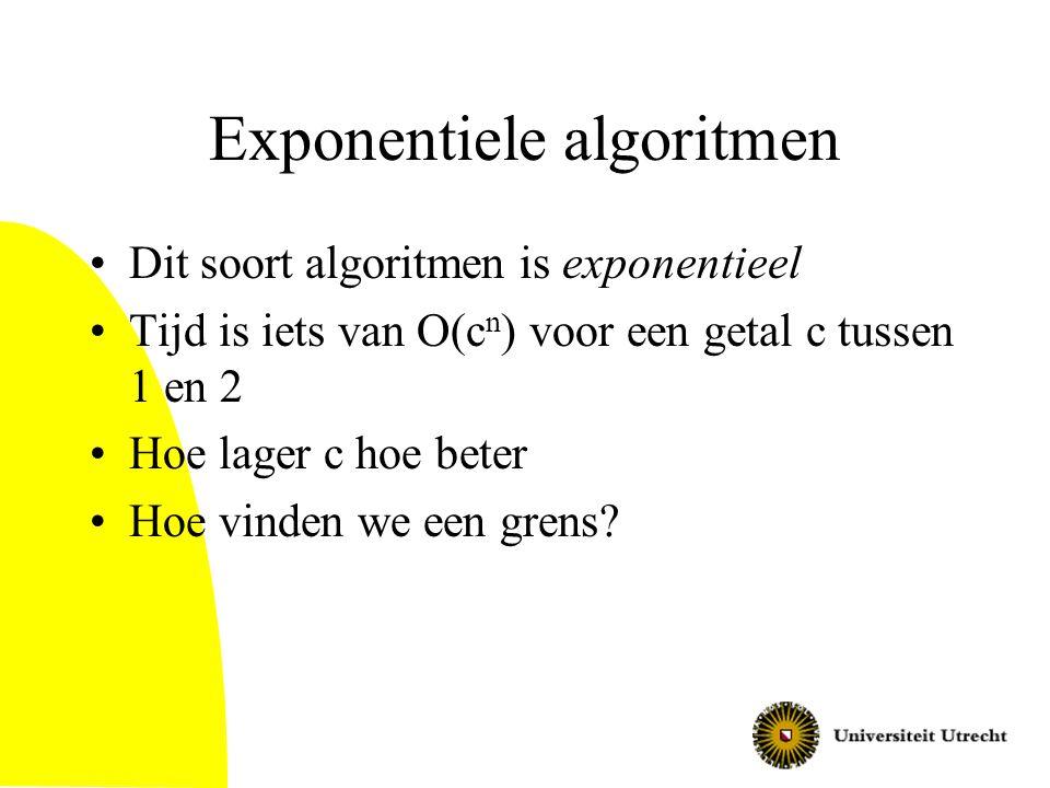 Exponentiele algoritmen