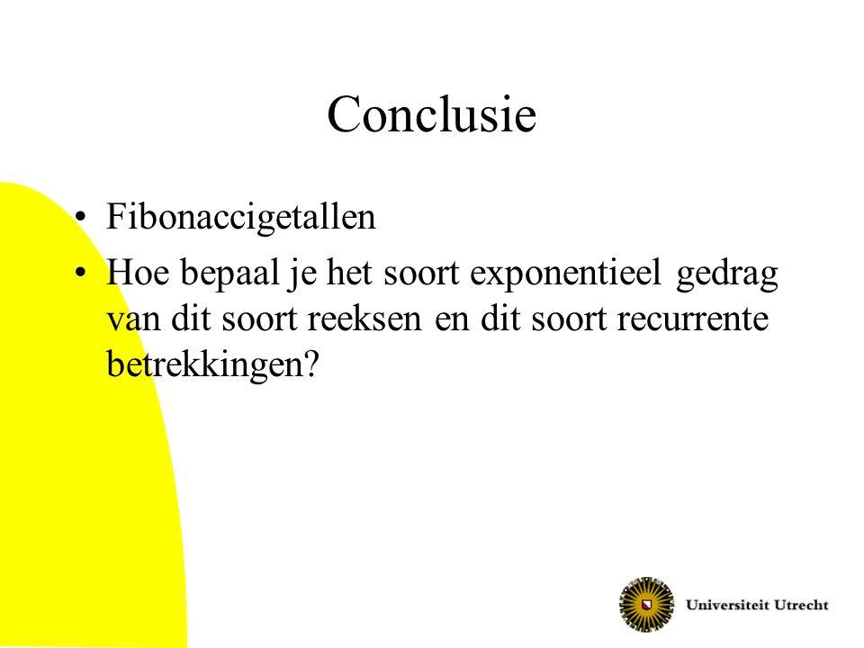 Conclusie Fibonaccigetallen