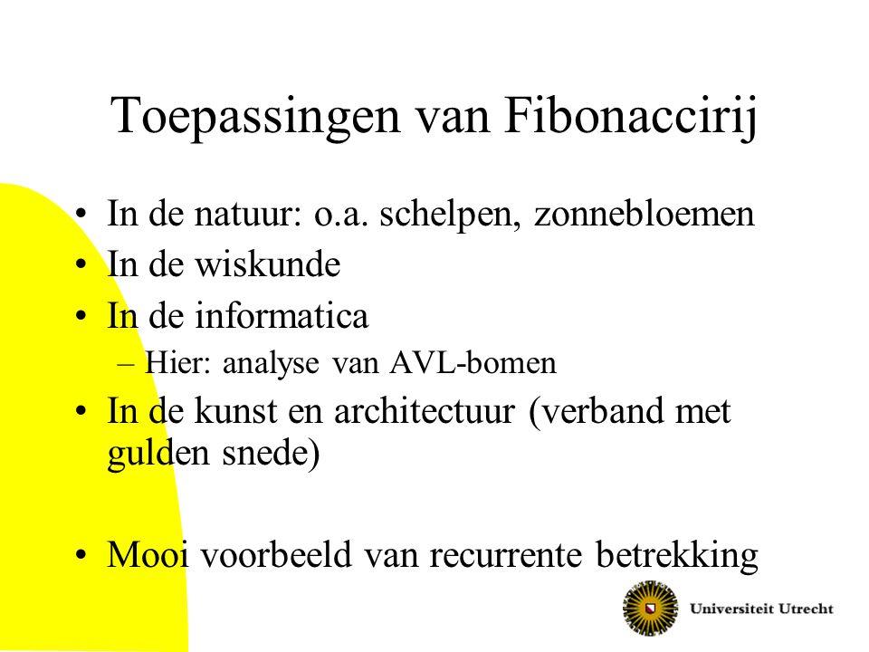 Toepassingen van Fibonaccirij