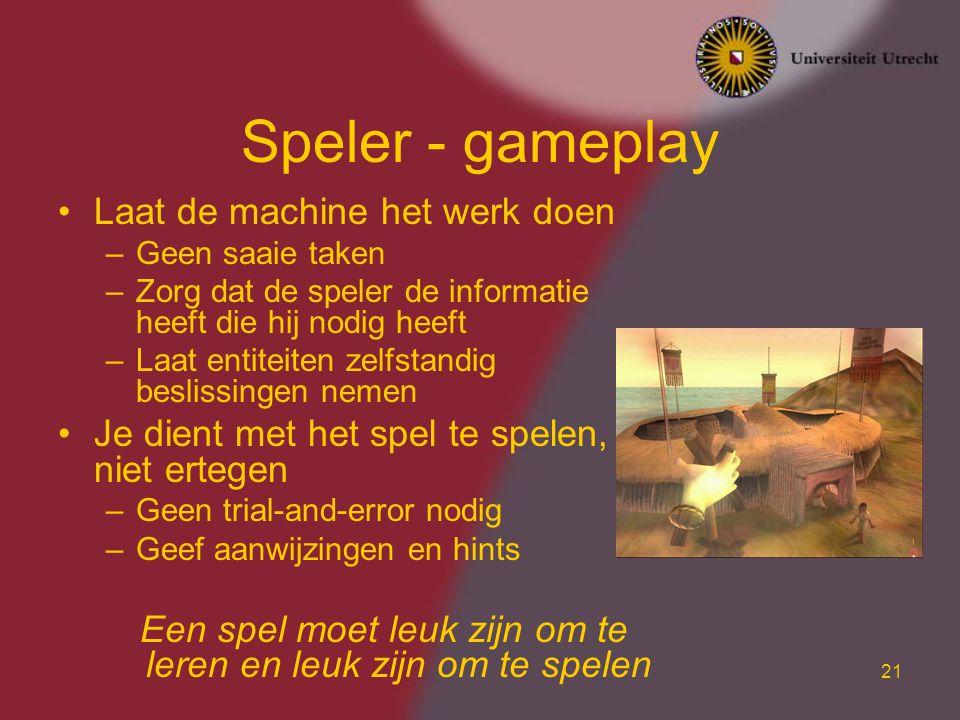 Een spel moet leuk zijn om te leren en leuk zijn om te spelen