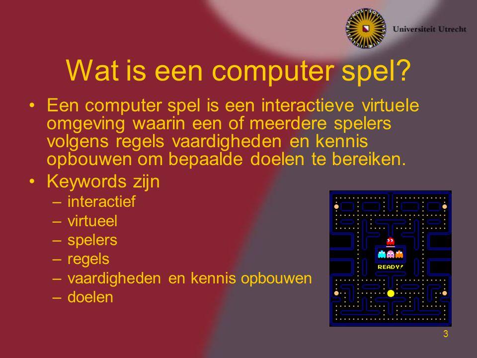 Wat is een computer spel