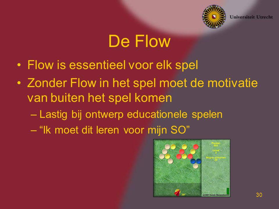 De Flow Flow is essentieel voor elk spel