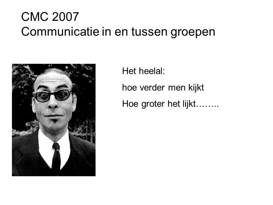 CMC 2007 Communicatie in en tussen groepen
