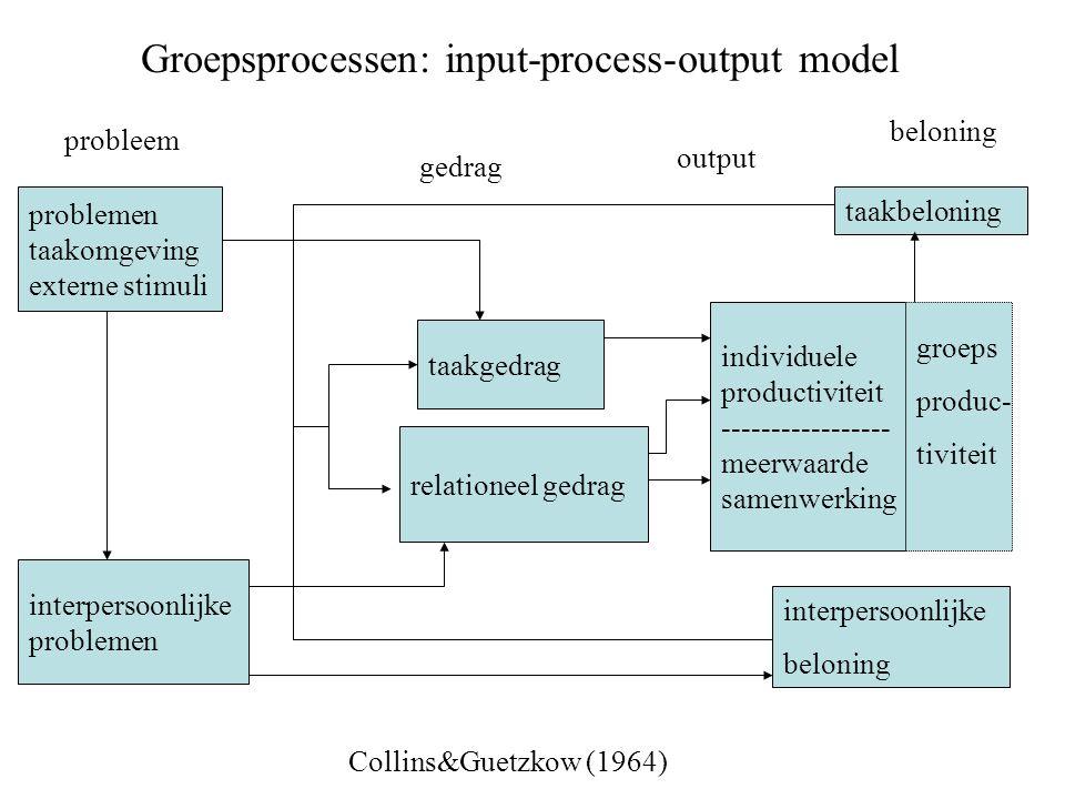 Groepsprocessen: input-process-output model