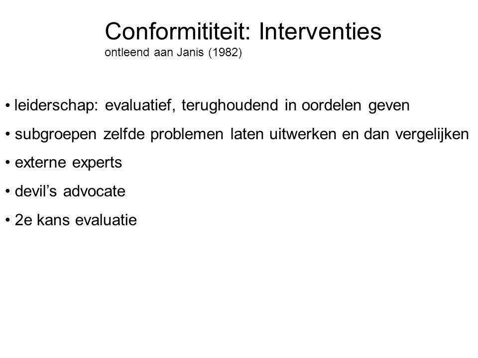 Conformititeit: Interventies