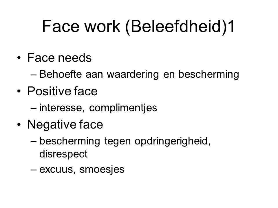 Face work (Beleefdheid)1