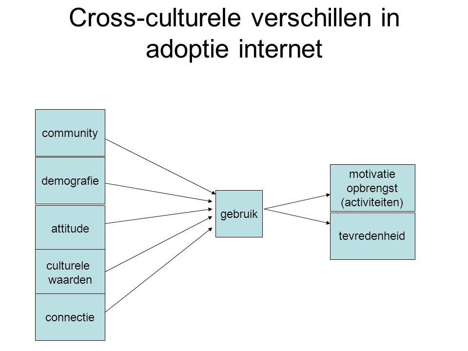 Cross-culturele verschillen in adoptie internet