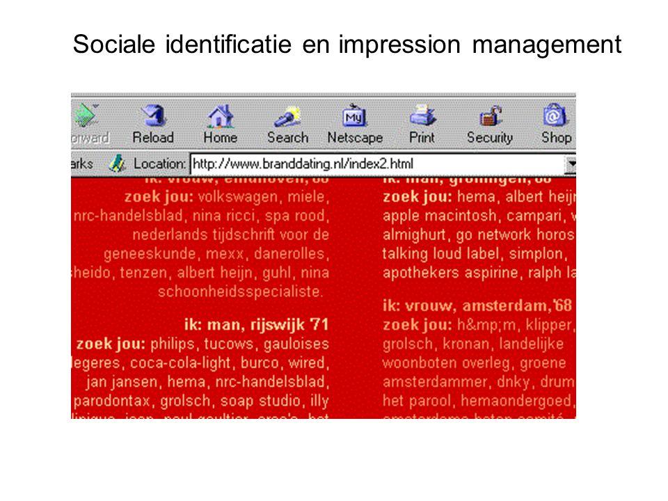 Sociale identificatie en impression management