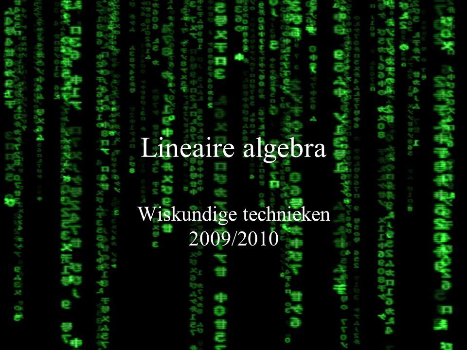 Wiskundige technieken 2009/2010