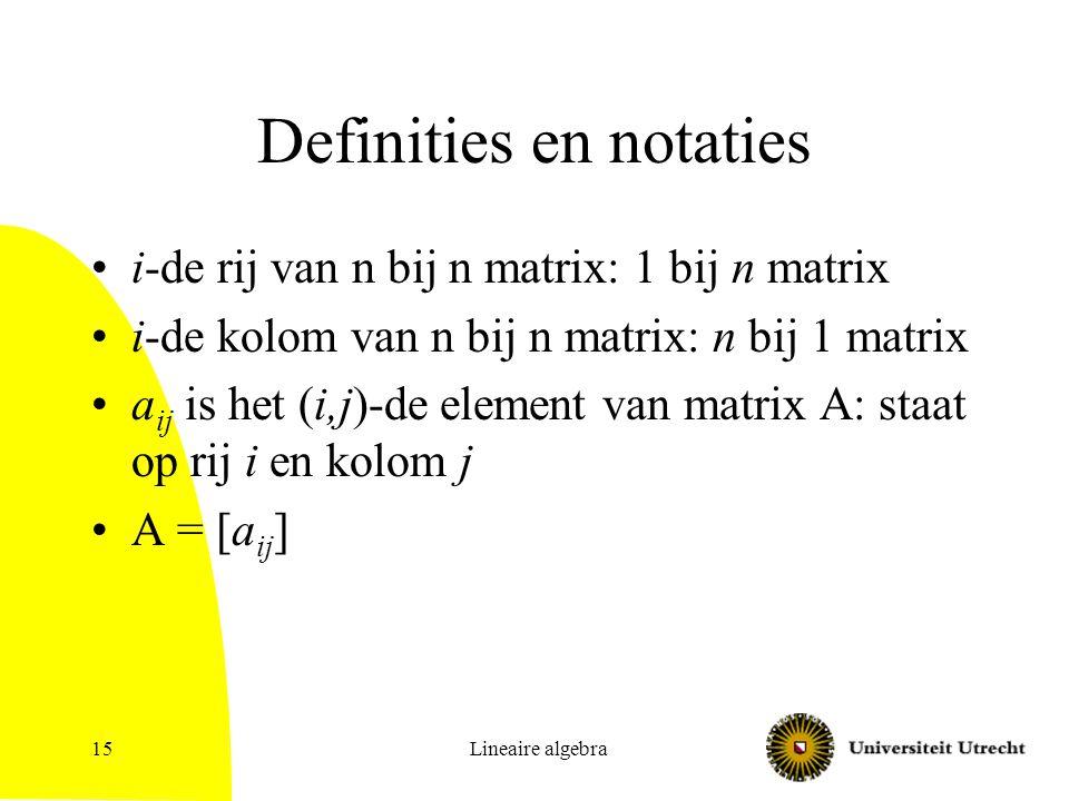 Definities en notaties