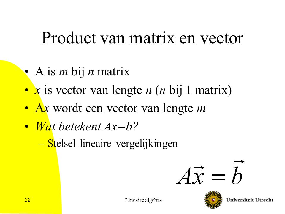 Product van matrix en vector
