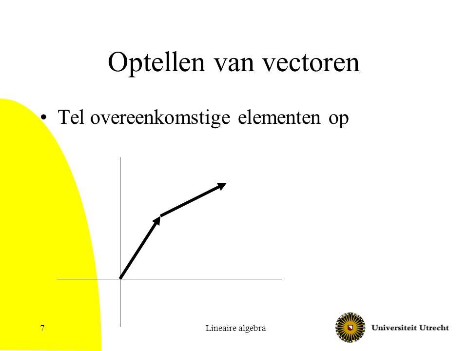 Optellen van vectoren Tel overeenkomstige elementen op