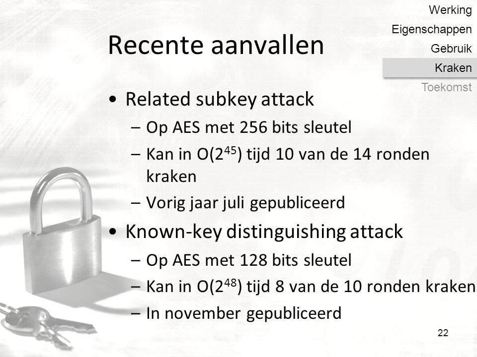Recente aanvallen Related subkey attack