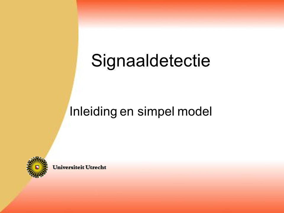 Inleiding en simpel model