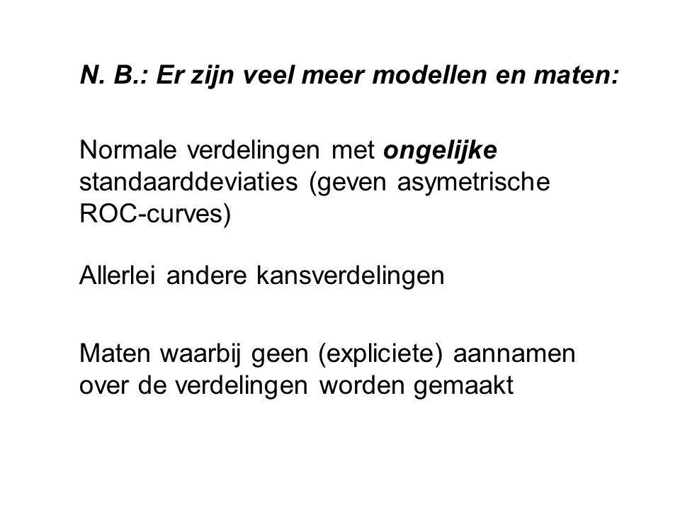 N. B.: Er zijn veel meer modellen en maten: