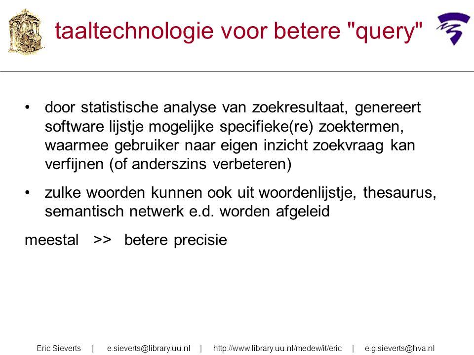 taaltechnologie voor betere query