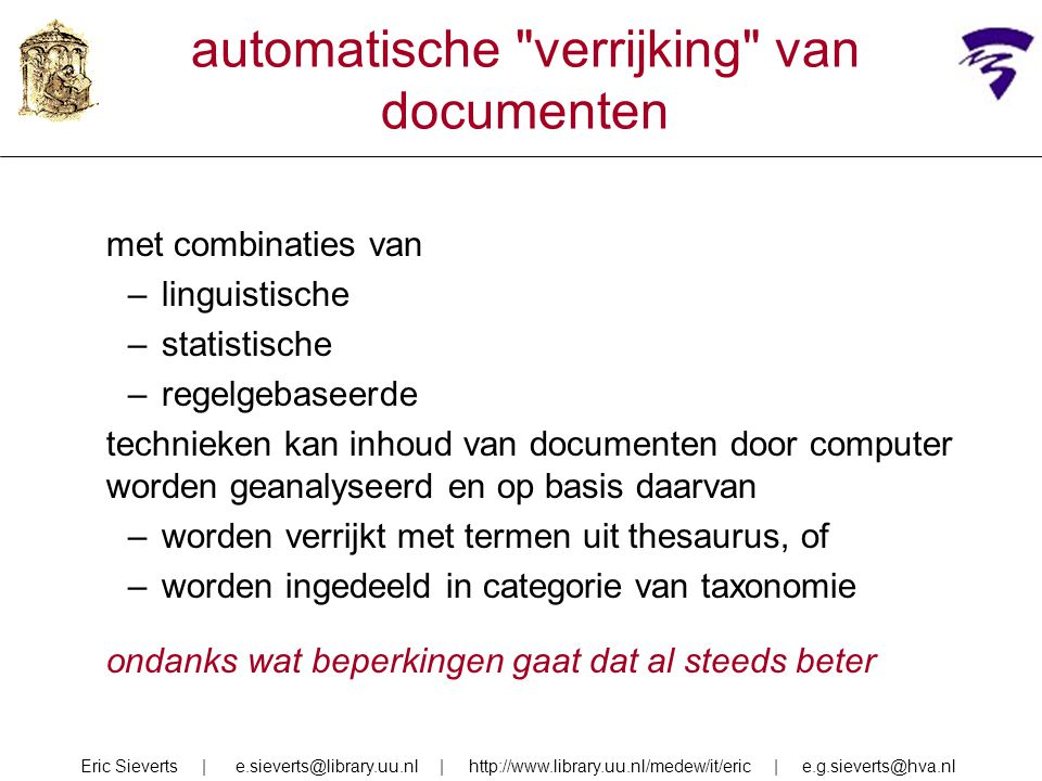 automatische verrijking van documenten