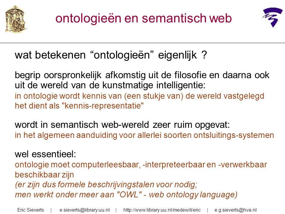 ontologieën en semantisch web
