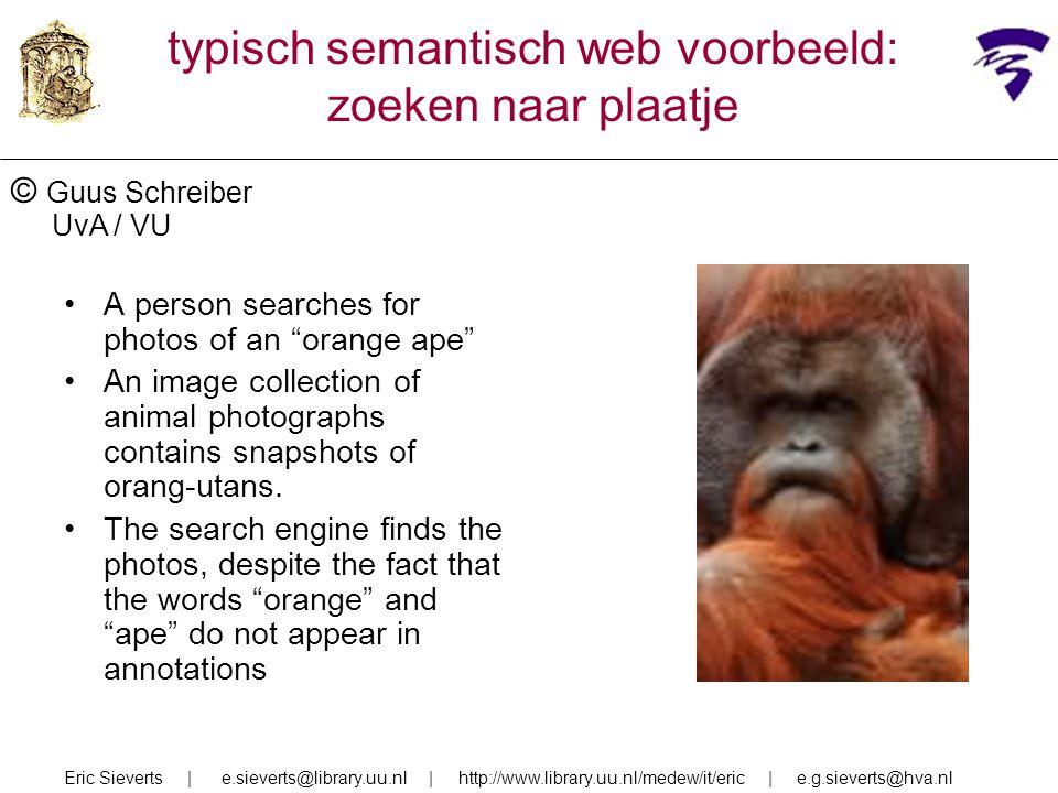 typisch semantisch web voorbeeld: zoeken naar plaatje