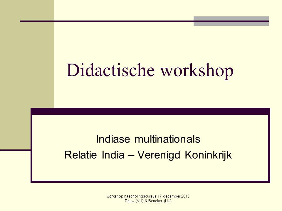 Indiase multinationals Relatie India – Verenigd Koninkrijk