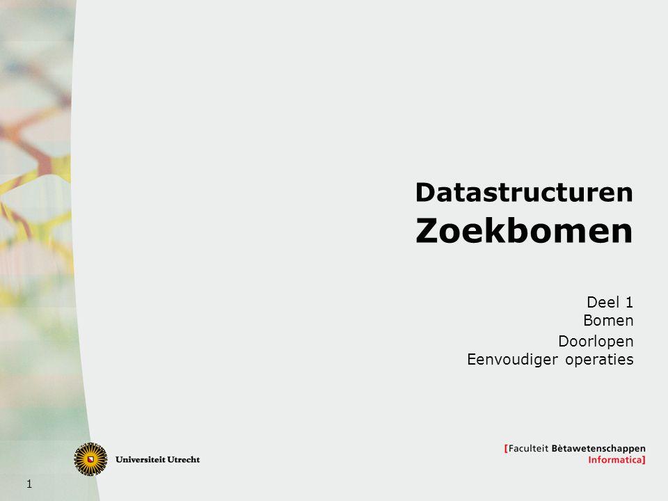 Datastructuren Zoekbomen