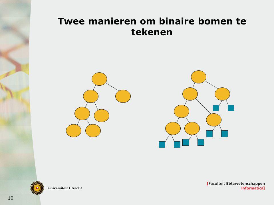 Twee manieren om binaire bomen te tekenen