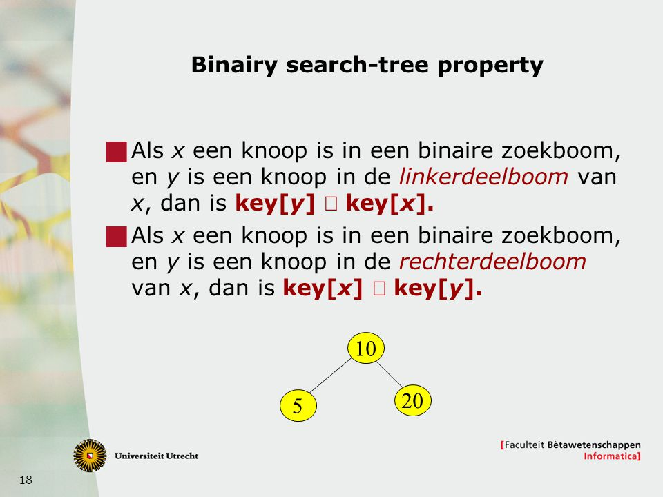 Binairy search-tree property